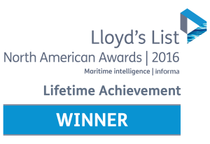 Clay Maitland wins the Lloyd's List Lifetime Achievement Award